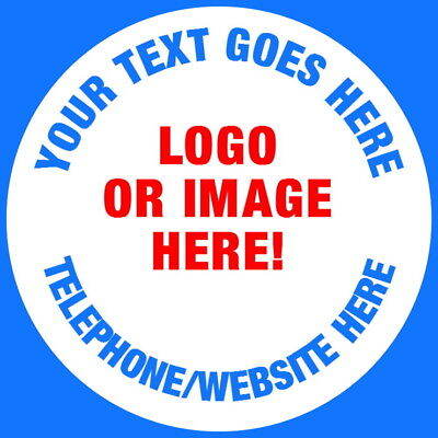 Your Design Or Logo Personalised Gloss Business Stickers Labels Any Text & Image
