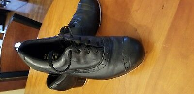 Bloch Jason Samuel Smith Black Leather Tap Shoes Women's Size 8