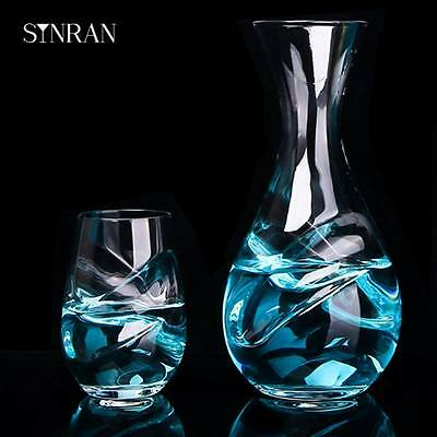 Whisky Wine Decanter with 1 Glass Sets Bar or Home Kitchen Tool Wine Decanter