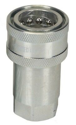 """CWH Ag Style Female Coupler With Ball Seat 1/2'' NPT (.840""""-14) With Dust Cap"""