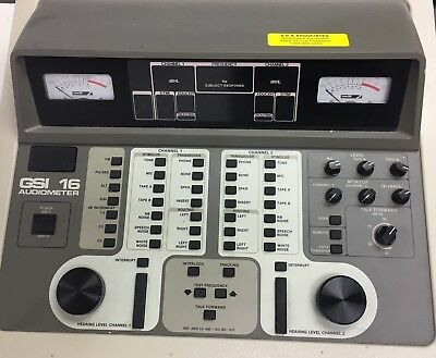 GSI Grayson Stadler GSI 16 Clinical audiometer power tested with accessories