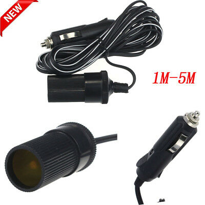 12V 10A Car Accessory Cigarette Lighter Socket Extension Cord Cable 1-5m Hoc