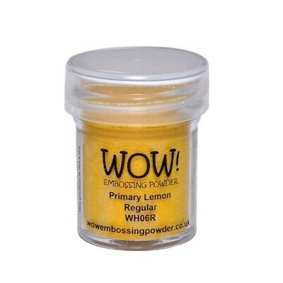 WOW! Embossing Powder Primary Lemon 15 ml - Embossing Pulver Citrone