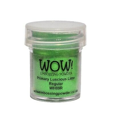WOW! Embossing Powder Primary Luscious Lime 15 ml - Embossing Pulver Limette