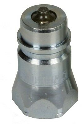 """CWH Ag Style Male Nipple With Poppet Seat 1/2'' NPT (.840""""-14)  With Dust Cap"""