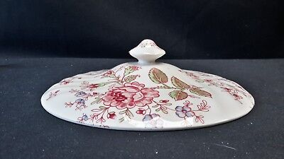 Johnson Brothers Rose Chintz Pink Round Covered Vegetable Bowl Lid (Lid Only)