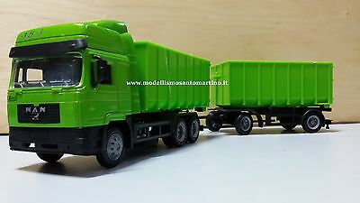 New Ray Camion Man F2000 Twin Dump Truck 1:43 15043A