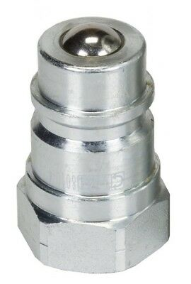 """CWH Ag Style Male Nipple With Ball Seat 1/2'' NPT (.840""""-14)  With Dust Cap"""