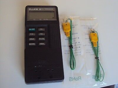 Fluke 52 K/J Two Channel Digital Thermometer Calibrated