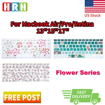 Flower Design Silicone Keyboard Cover  Skin for Apple MacBook Air Pro13 15 17