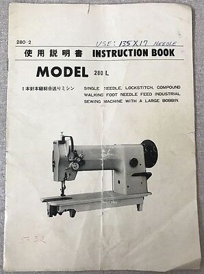 Nakajima 280L Instruction Book Operating Instructions Manual PDF File Document