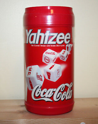 Coke Coca Cola Yahtzee Dice Game Sealed Can Cannister Custom Dice Hasbro Toy