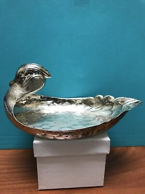 Vintage Sterling Silver Duck Candy / Jewelry Dish