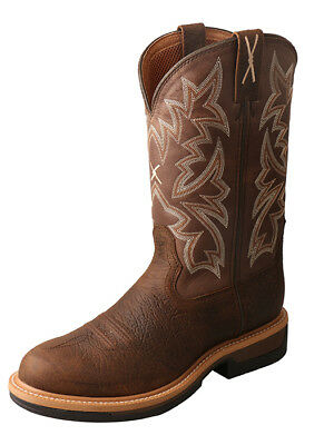 8ed9a07fc55 Twisted X Men s Lite Cowboy Taupe   Brown Round Toe Work Boot MLCWW03