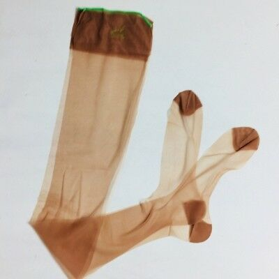 Hanes Stockings Reinforced Sheer Nylon Size 11 Vintage Long