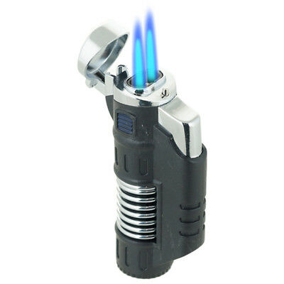 Double Jet Torch w/ SPRING DESIGN Lighter Adjustable Windproof Butane Refillable