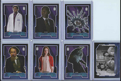 Lot of 7 2015 Topps Doctor Who Parallel Cards /99 /199