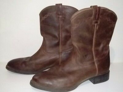 Men's ARIAT Heritage ROPER Riding Boots Size 14 EE BrownLeather DOGGER Boots
