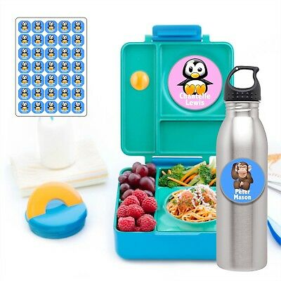 Personalised Children's Kids Name Stickers Labels Lunch boxes - back to school