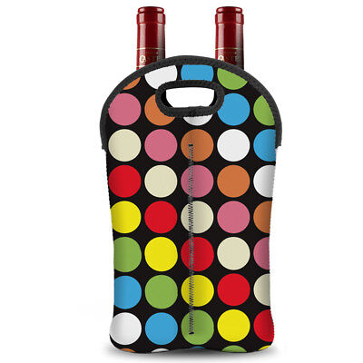 2 Bottles Wine Tote Wine Drink Carrier Bag Holder for Travel Party Pinic