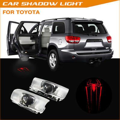 The Spider Spiderman Logo Car Door Projector Laser Ghost Shadow Light For Toyota