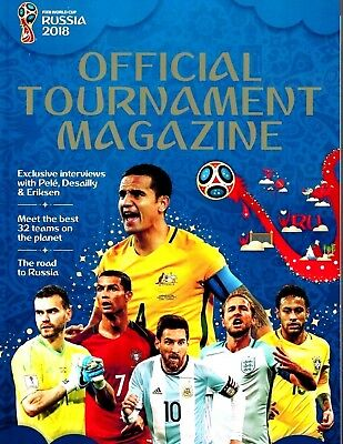 Official 2018 Fifa World Cup Tournament Guide Magazine Soccer Football Collector
