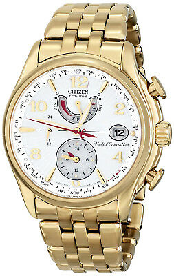 Citizen FC0002-53A Eco-Drive A-T Silver Dial Gold Tone Stainless Women's Watch