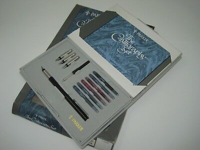 Parker calligraphy set new includes pen nibs converter inks