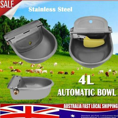 4L Automatic Float Valve Water Trough Bowl Stock Waterer Drinking Horse Sheep Au