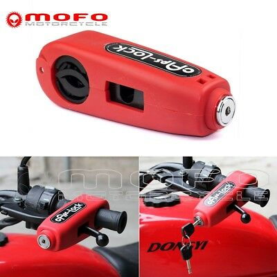 Motorcycle Scooter Handlebar Grip Throttle Brake Clutch Lever Safety Caps Lock