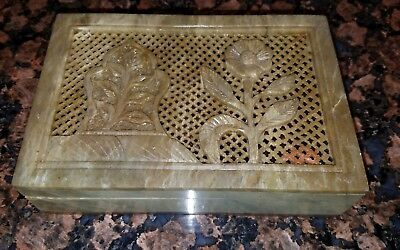 Vintage Chinese Handcarved Stone Box