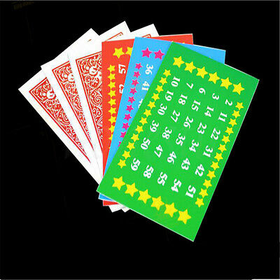 12pcs Card Age Number Guess Magic Trick Mental Mind Tell Effects Work Maths Toys