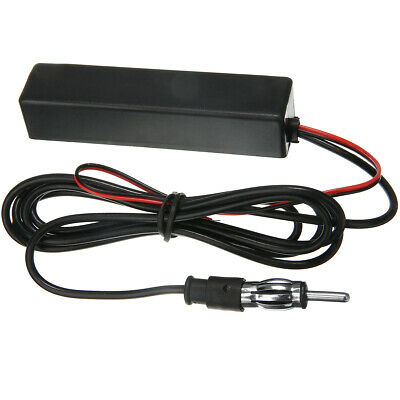 Antenna Electronic Auto Car Stereo AM FM Radio Hidden Aerial Universal Amplified
