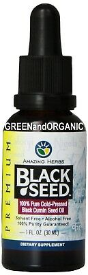 #1 IN THE WORLD: Black Cumin Seed Oil 100% Pure Cold Pressed Virgin Organic 1 oz