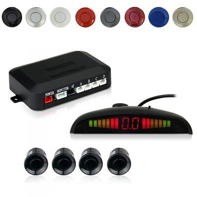 Car Vehicle Auto Backup Radar 4 Parking Sensors Distance Display Beep & Park Kit