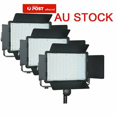 AU 3pcs Godox LED500C 3300-5600K Camera Video Continuous Wedding Lighting Kit