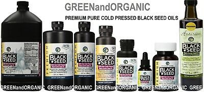 AMAZING HERBS 100% Pure Black Seed Oil Cold Pressed Cumin Nigella Sativa Non GMO