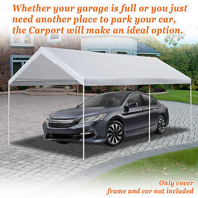 10u0027x20u0027 Carport Replacement Canopy Cover for Tent Top Garage Shelter Cover & CARPORT CANOPY ROOF Top Replacement Cover for Costco Shelter 10u0027 x ...