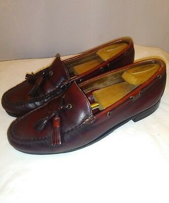 edac0d5adb1 Cole Haan Tassel Loafers Dress Shoes Red Brown Leather Men s Size 42 US Sz 9