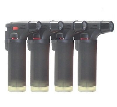 4pack  Butane Torch Lighter Gun Windproof Adjustable Jet Flame Refillable Jumbo