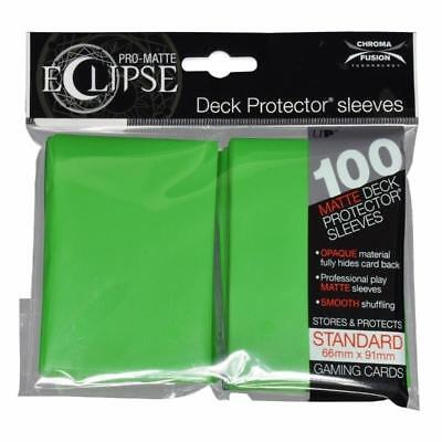 Ultra Pro Matte Deck Protector Sleeves ECLIPSE LIME GREEN 100 ct MAGIC POKEMON