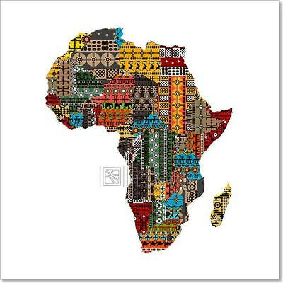 Cities, Countries, Geography, etc. Wall Map of AFRICA Full-Sized 24x36 POSTER