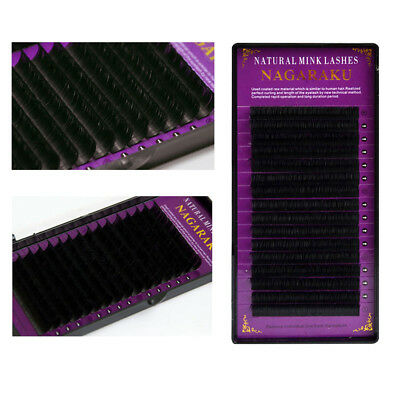 Natural Silk Individual Eyelashes Extension Professional Lashes B/C/D L8-15mm