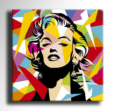 QUADRO MODERNO MARILYN MONROE POP ART DIPINTO A MANO ASTRATTO ABSTRACT STAMPA