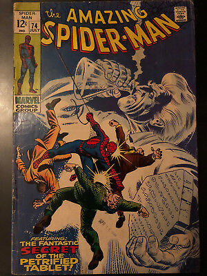 The Amazing Spider-Man Marvel Comics #74 July 1969 The Petrified Tablet