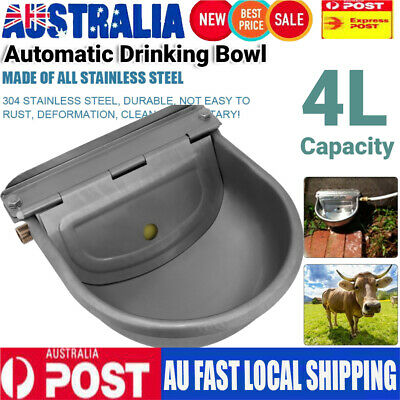 4L Water Trough Bowl Automatic Drinking Kit For Dog Horse Chicken Auto Fill 22CM