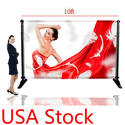 "10""W x 8""H Telescopic Banner Stand Large Tube Step & Repeat Adjustable Backdrop"