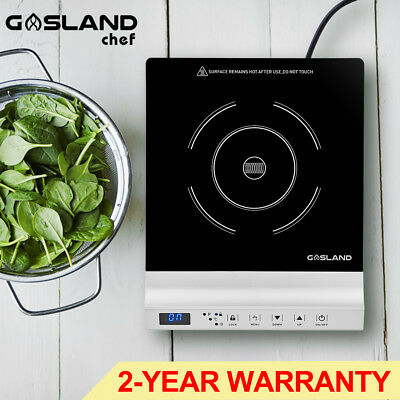GASLAND chef Electric Induction Cooktop Portable Kitchen Cooker Silver Cook Top