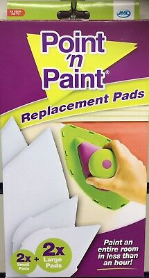 JML Point 'n' Paint Replacement Paint Pads 2x Large 2x Small - UK SELLER  BOXED