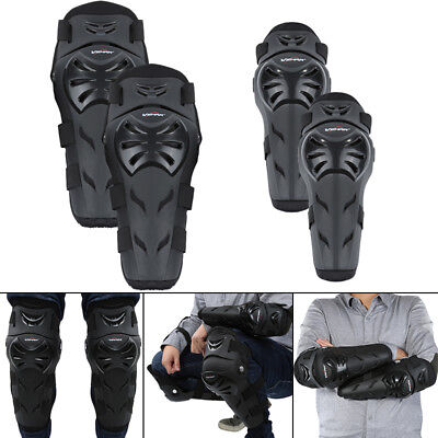 4X Adult Elbow Knee Shin Armor Guard Pads Protector for Motorcycle Motocross RM6